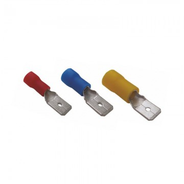 Faston male insulated cable lugs