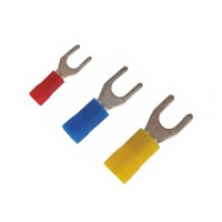Fork type insulated cable lugs